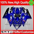 7gifts For SUZUKI GSXR1000 05 06 GSX R1000 88MC9 Black flames GSX-R1000 GSXR-1000 Blue blk 05-06 K5 GSXR 1000 2005 2006 Fairing