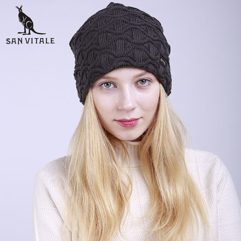 9e7b2ebde41 Skullies Beanies Hats Women Hats Winter Warm Cotton Beanie Christmas Clothes  For Dress Famous Brand Fur Pompom High Quality