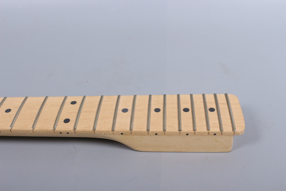 Electric guitar neck Maple and maple wood Fretboard 22 fret 25.5 nut width 43mm heel 55-56mm 1x electric guitar neck mahogany maple wood fretboard truss rod 22 fret 25 5