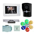 "freeship by DHL 7""inch video door phone RFID Access Control System&5 ID Card for Apartment  video doorbell home intercom system"