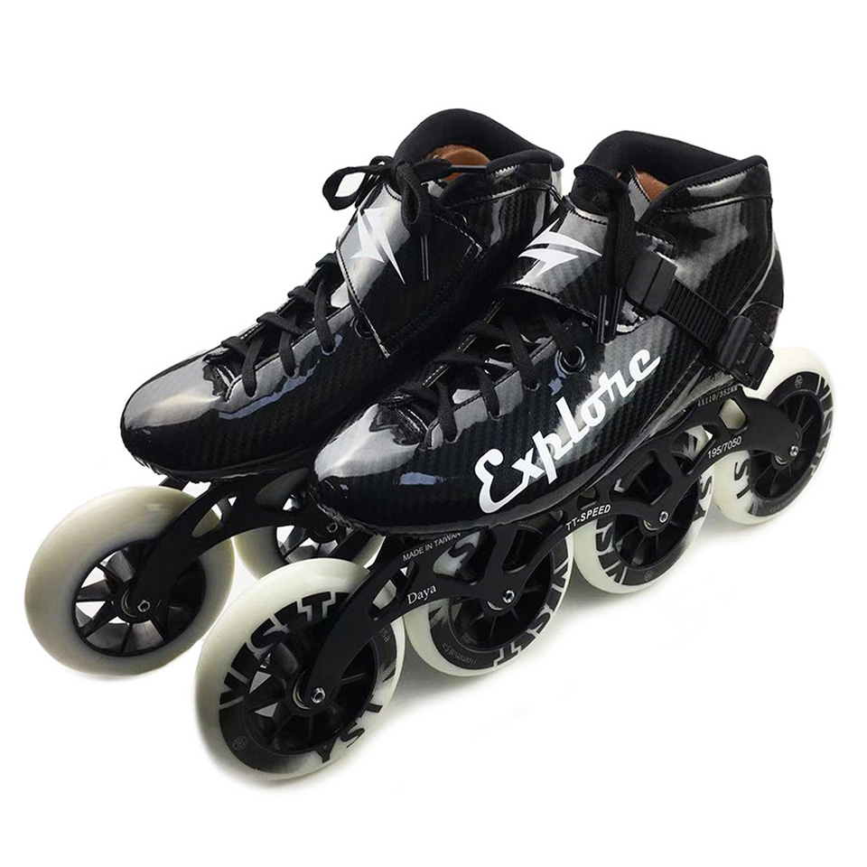 Worth Carbon Fiberglass Inline Speed Skates Kid Adult Beginner New hand Speed Racing Train Street Racing
