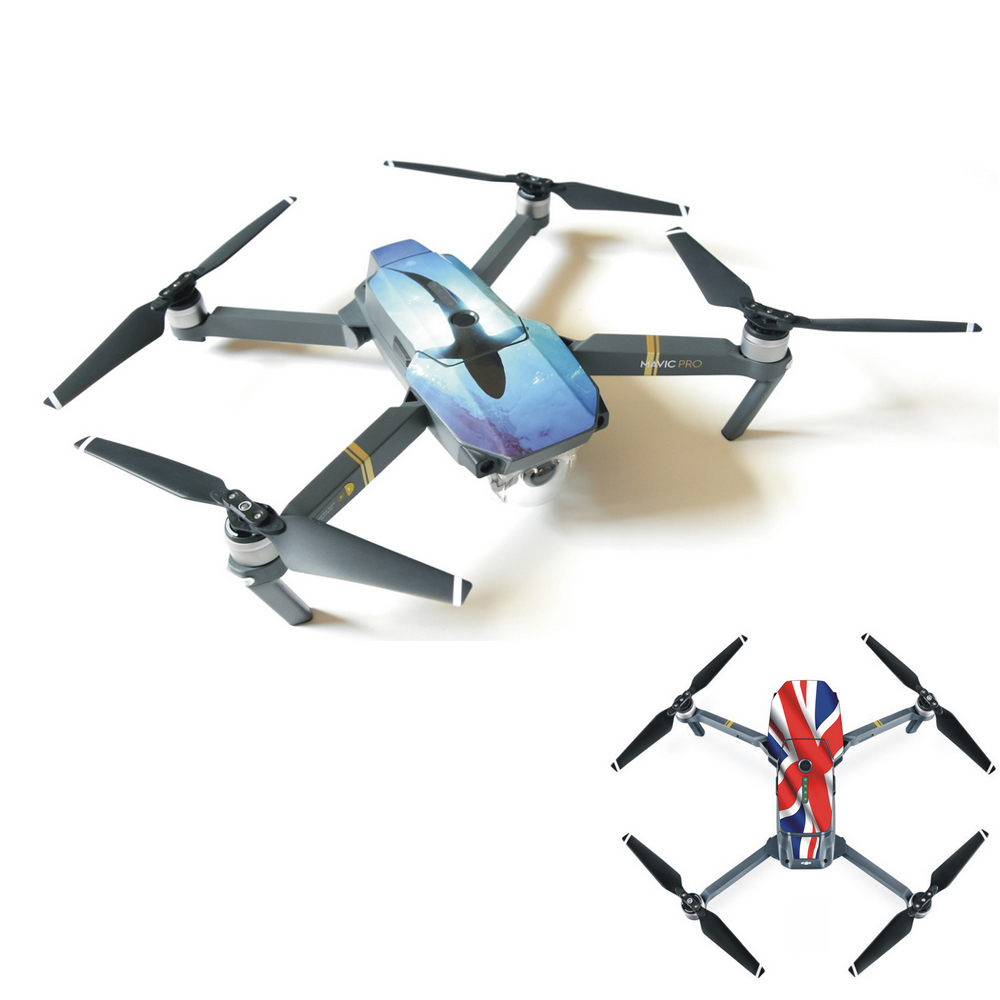 1pcs New PVC waterproof Stickers Decals For FPV Drone DJI Mavic Pro Quadcpter