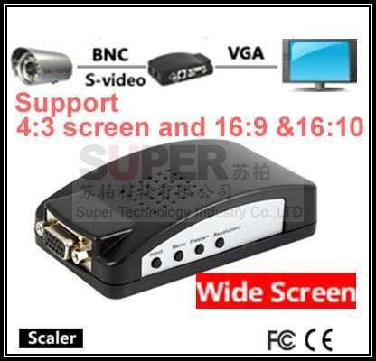 7503 M para a conversão de Vídeo Composto de Vídeo Composto BNC & S para VGA conversor de vídeo BNC transformador interruptor av av AV adaptador