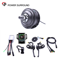 Waterproof Color Display Electric 36v350w Front/rear Bike Conversion Kit Brushless Hub Motor wheel bicycle With Ebike System