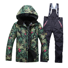 Free shipping!!!2016 new mens ski suits snowboard jacket + pants men waterproof,breathable thermal cotton-padded super warm