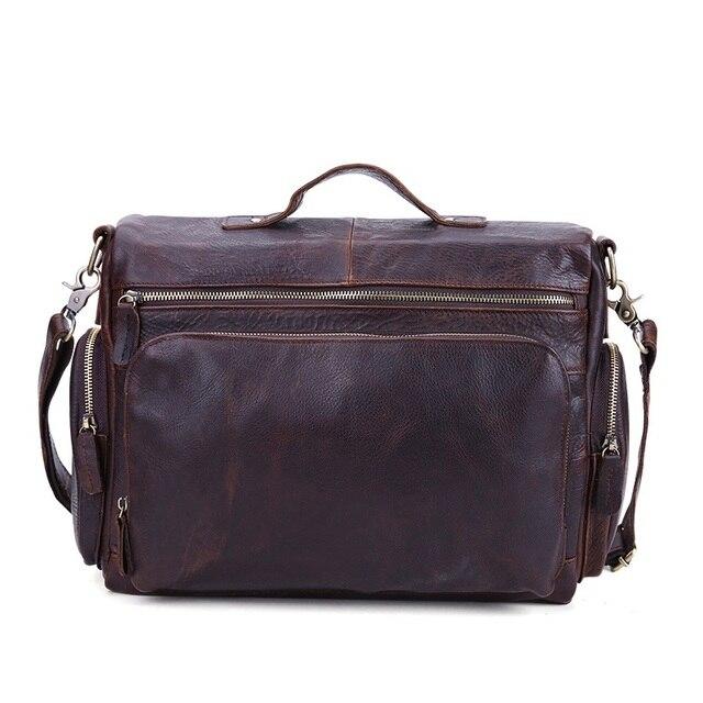 New 2016 Genuine Leather Men Bag Men's Briefcase Men Messenger Bags Business Laptop Briefcase Leather Men's Travel Bags