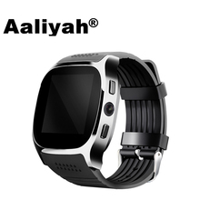 Aaliyah New T8 Bluetooth Smart Watches Support SIM &TF Card With Camera Sync Call Message Men Landy Smartwatch Watch For Android aaliyah sw007 bluetooth smart watch with camera pedometer wearable devices support sim tf card men smartwatch for android phone