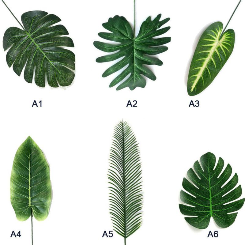 20pcs Artificial Fake Monstera Palm Leaves Leaf-shaped Green Plants Wedding DIY Decoration Flowers Arrangement Plant Leaf New