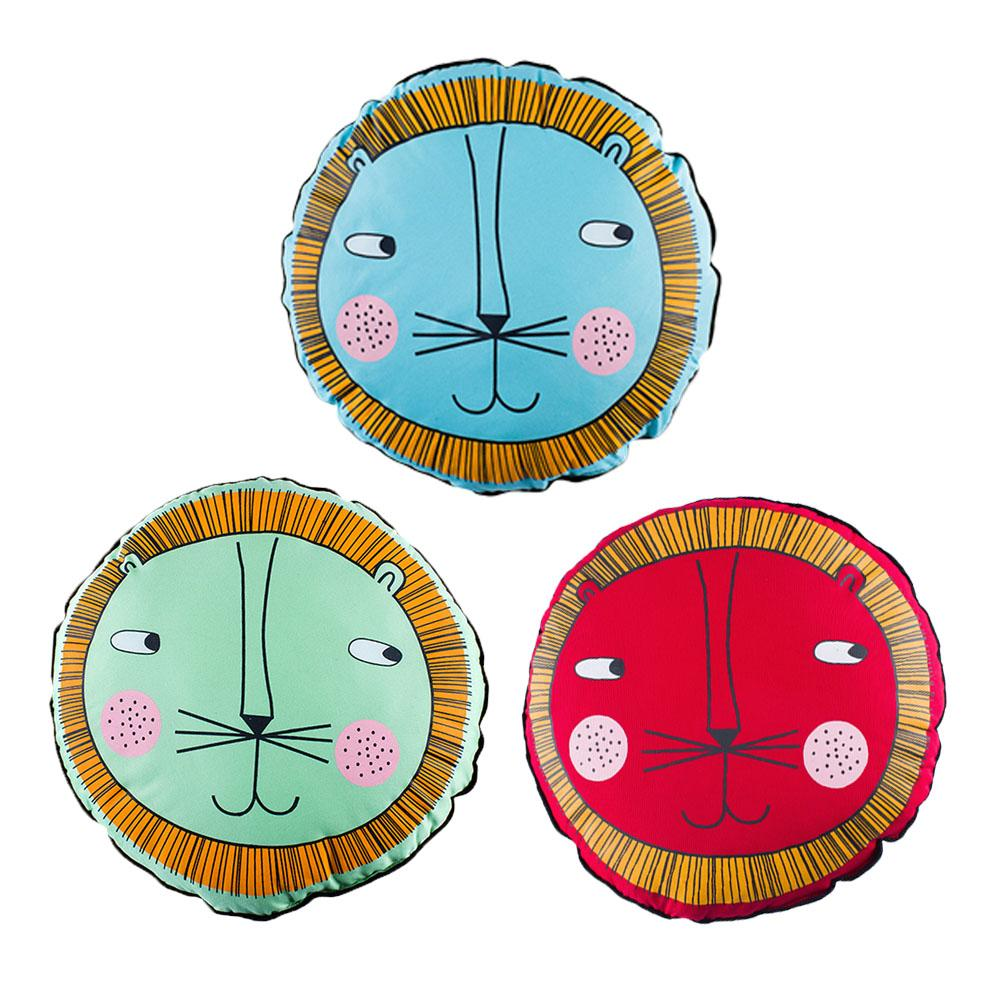 Cartoon Cotton Round Crib Pillow Multicolor Cushion Green Baby Seat Cushion Car Seat And Baby Carriage Baby Toy