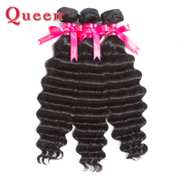 Queen Hair Products 1PC Loose Deep More Wave Peruvian Hair Weave Bundles 100% Remy Human Hair Extensions weaving natural hair