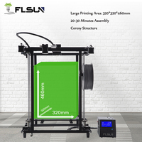 Germany warehouse Flsun 3D Printer Large Printing Size 320*320*460mm Filament Sensor Corexy Stucture Metal Frame Easy Assembly
