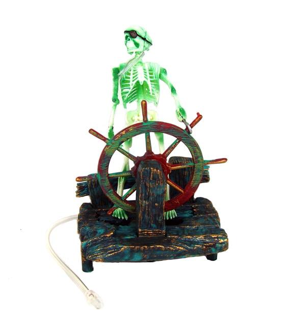 Hot Aquarium Decoration Skeleton On Wheel Fish Tank Ornament Decor For Aquarium Tank W75 Great Gif