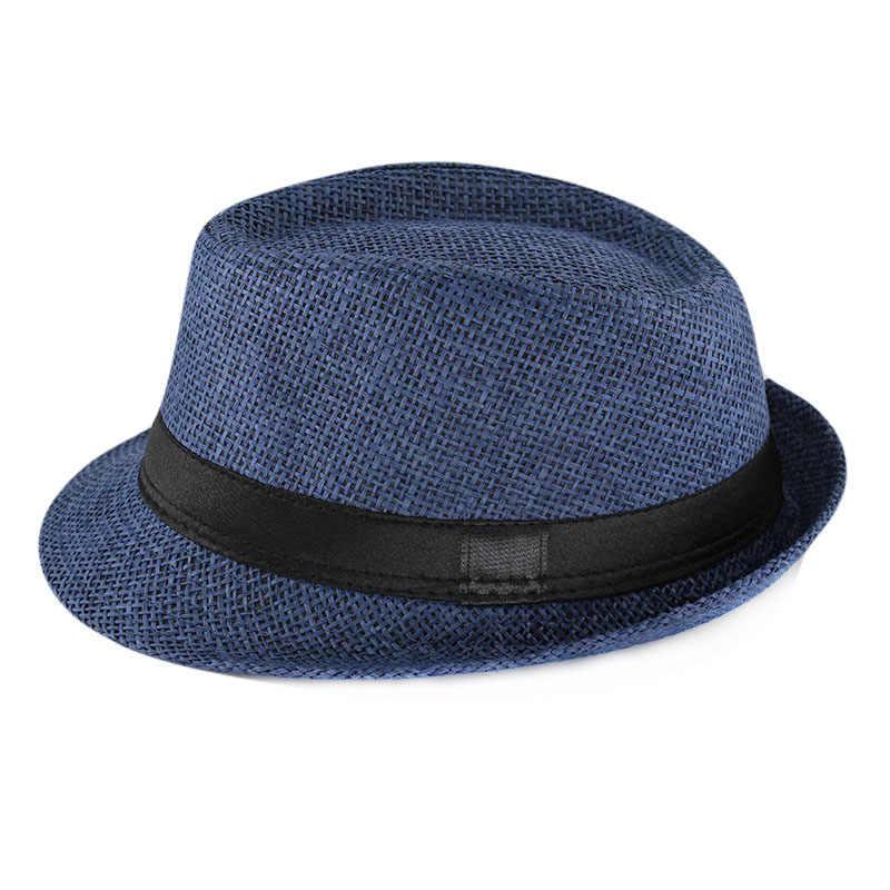 1990ea9a32e ... miaoxi New Fashion Kids Sun Hat For Boys Summer Caps Casual Straw Caps  Children Solid Colors ...