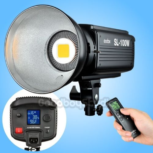 Godox SL-100W 2400LUX Studio LED Continuous Video Light Bowens Mount with Remote цена