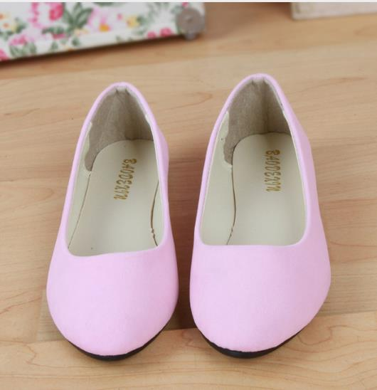 Fashion trend simple sweet classic candy colors women new fashion casual high-end flock flats boat cute girls flats office shoes new hot spring summer high quality fashion trend simple classic solid pleated flats casual pointed toe women office boat shoes