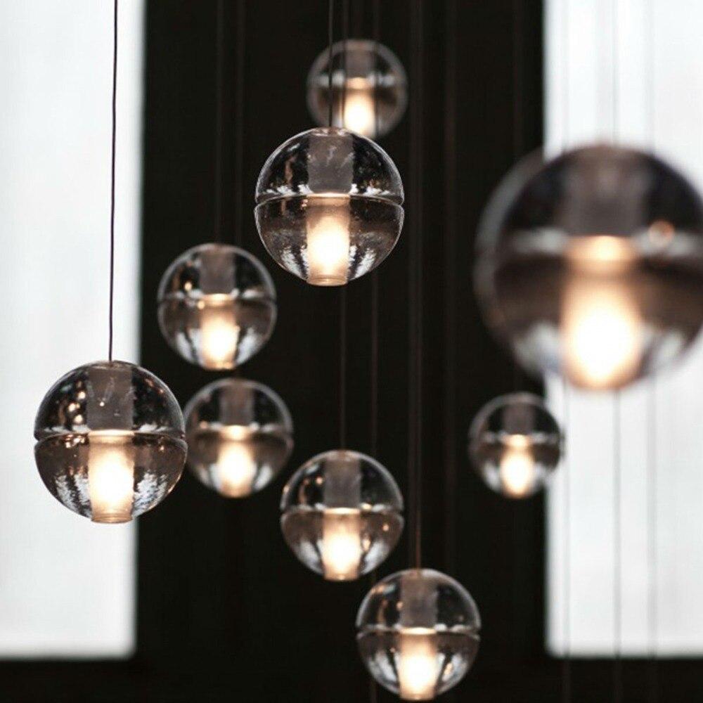 hot selling magic k9 crystal ball g4 pendant light glass led single head fashion lighting fixture ball pendant lighting