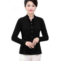 100% шелк тяжелый вес женская рубашка с длинными рукавами Топ размеры L, XL, XXL, XXXL
