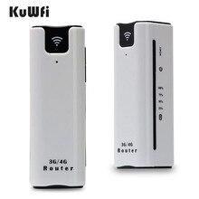 KuWfi 2200 mAh 3G נתב אלחוטי מיני נייד WI FI נתבים תמיכה 2100 MHZ נייד WiFi Hotspot עם כרטיס ה sim חריץ