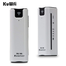 KuWfi 2200mAh 3G Wireless Router Mini Portable WI FI Routers Support 2100MHZ Mobile WiFi Hotspot With Sim Card Slot
