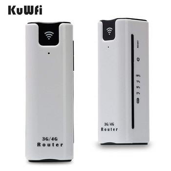 KuWfi 2200mAh 3G Wireless Router Mini Portable WI-FI Routers Support 2100MHZ Mobile WiFi Hotspot With Sim Card Slot