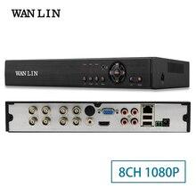 WANLIN 8Ch 1080 P CCTV DVR NVR HVR 5 DANS 1 AHD CVI TVI CVBS Caméra IP Onvif 5MP NVR P2P Voir Soutien RS485 Coxial contrôle