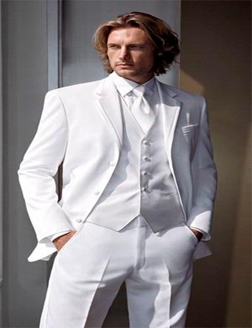 New Hot White Suit 2018 Customized Slim Fit Groom Suit Wedding Suit ...