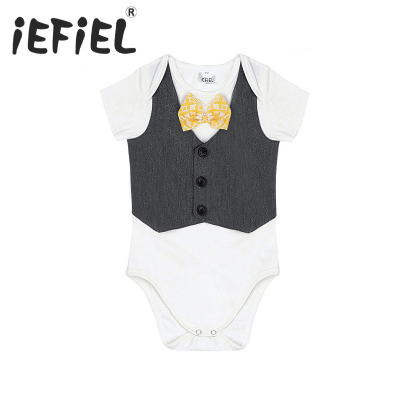 IEFiEL NewBorn Infant Baby Boys Children Short Sleeves