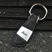 Лидер продаж натуральная Кожаный Автомобильный Брелок с кольцом цепочка для ключей для Audi A6 C5 4B 4F C6 C7 S6 RS6 RS Dec19