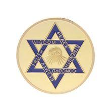 Золото Серебро покрытием масонская памятная монета сувенир вызов коллекционные монеты коллекция Искусство ремесло подарок