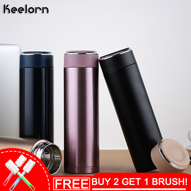 Keelorn Double Wall Stainless Steel Koffie Thermos Cups Mokken Thermische Fles 500ml Thermocup Fashion Koffie Tumbler Vacuum Kolf