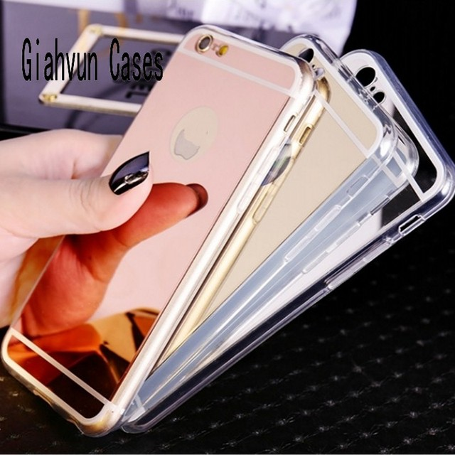 reputable site 44b68 ee696 US $3.99 |Gold Rose Silver Black Mirror Soft Back Cover case TPU Phone  Cover Capa para For iPhone X 8 7 6 Plus 6S 4 4S 5 SE Back Case-in  Rhinestone ...