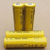 Ding li shi jia 6 pces 18650 bateria recarregável 3.7 v 9900 mah li-ion bateria para led lanterna tocha baterias