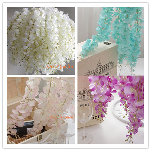 80pcs artificial silk wisteria flower for diy wedding arch square 80pcs artificial silk wisteria flower for diy wedding arch square rattan simulation flowers wall hanging basket mightylinksfo Choice Image