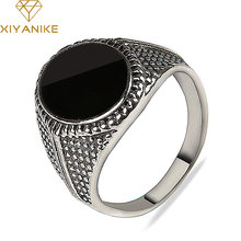 HOT Cheap Vintage Tibetan Jewelry Oval Black Drip Rings For Women Men Silver Plated Crystal Gift Free Shipping XY-R4(China)