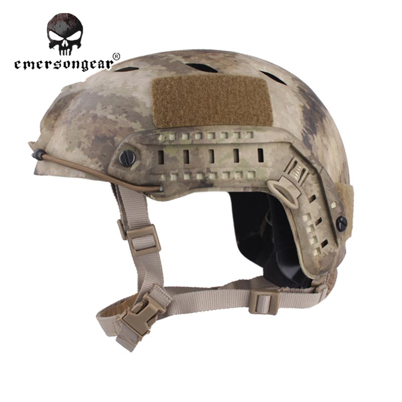 Emersongear Fast Base Jump Military Helmet Protective Helmet Emerson BJ Type Adjustable EM5659F A-Tacs тени для век essence my must haves eyeshadow 11 цвет 11 stay in coral bay variant hex name d48176