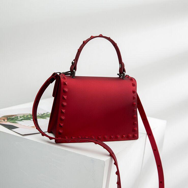 1437232a74f8 SUNNY BEACH Brand Luxury Rivets Handbags Women Bag Matte Jelly Stud ...