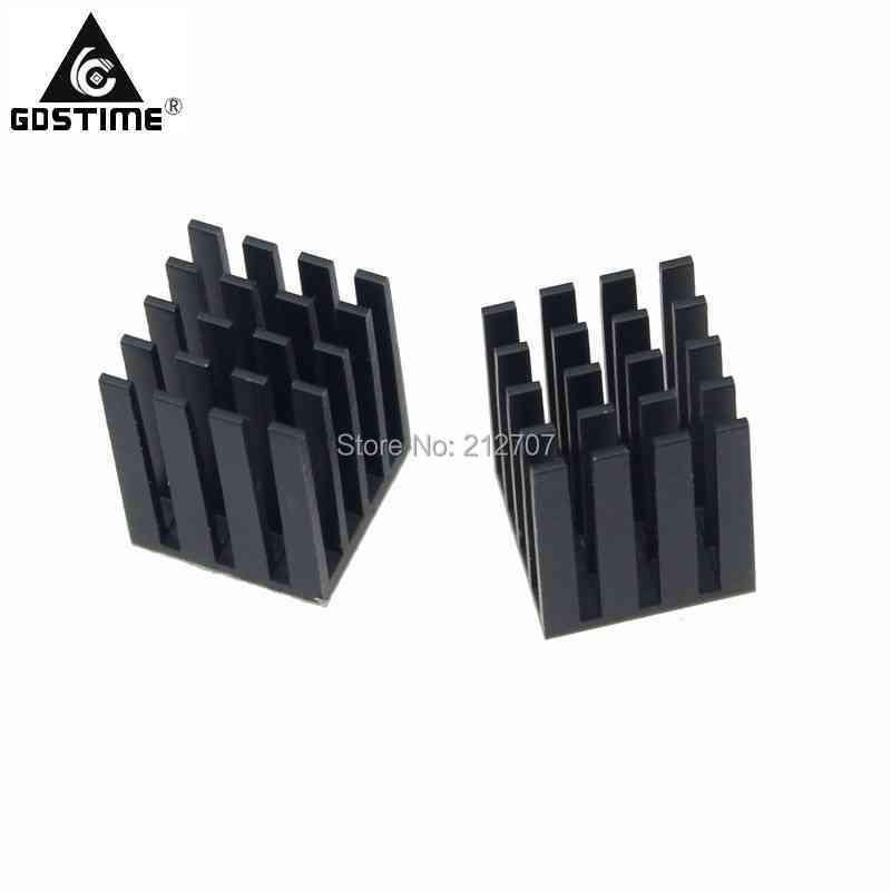 50pcs Gdstime 19x19x24mm Aluminum Heatsink For Chip VGA RAM LED IC Radiator Cooler Cooling 19*19*24mm