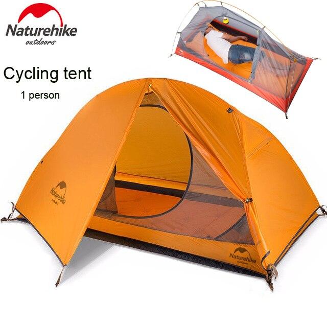 DHL freeshipping 1.5 kg naturehike ultra-léger tente 1 personne camping en plein air randonnée tentes imperméables Unique carpas plegables tenda