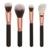 8 pçs/set Rose-golden Unicorn Ferramentas Cosméticos Pincéis de Maquiagem Rosto Olhos Novos tipos Com Cerdas Macias