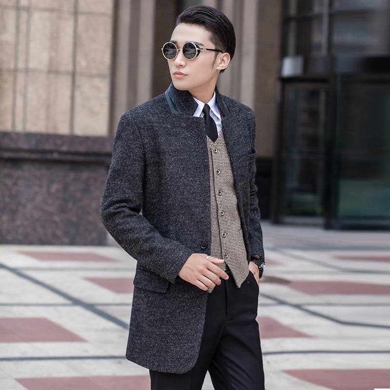 Hearty New Arrival Medium-long Fashion Casual Overcoat Men's Woolen Large Plus Size S M L Xl 2xl 3xl 4xl 5xl 6xl 7xl 8xl 9xl 10xl