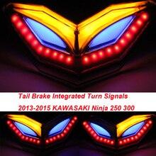 Задний фонарь Хвост Тормозной Поворотники Встроенным Светодиодным Свет Для KAWASAKI 2013-2015 Ninja 250 300 250R 300R EX250 EX300