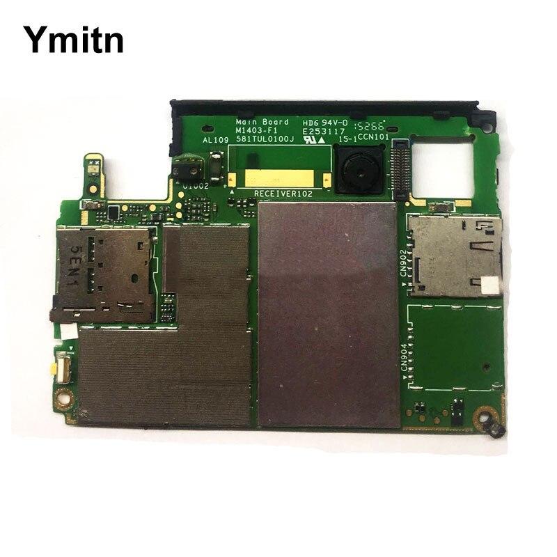 Ymitn débloqué Logement Mobile Électronique panneau carte mère Carte Mère Circuits Câble Avec OS Pour Sony Xperia M4 E2363 E2303