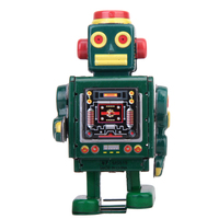 Kids Toy Retro Wind Up Robot Toy Collectible Gift w/ Key Chrismas Birthday Gift Toy for Child Boys Adults Girl Classic Baby Toys