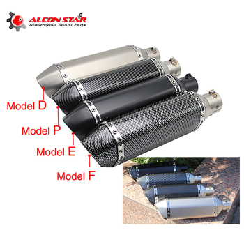 Alconstar- 35-51mm Motorcycle AkExhaust Modified Scooter Muffler Pipe with DB Killer XMAX TMAX530 500 CRF 230 NINJA ER6N