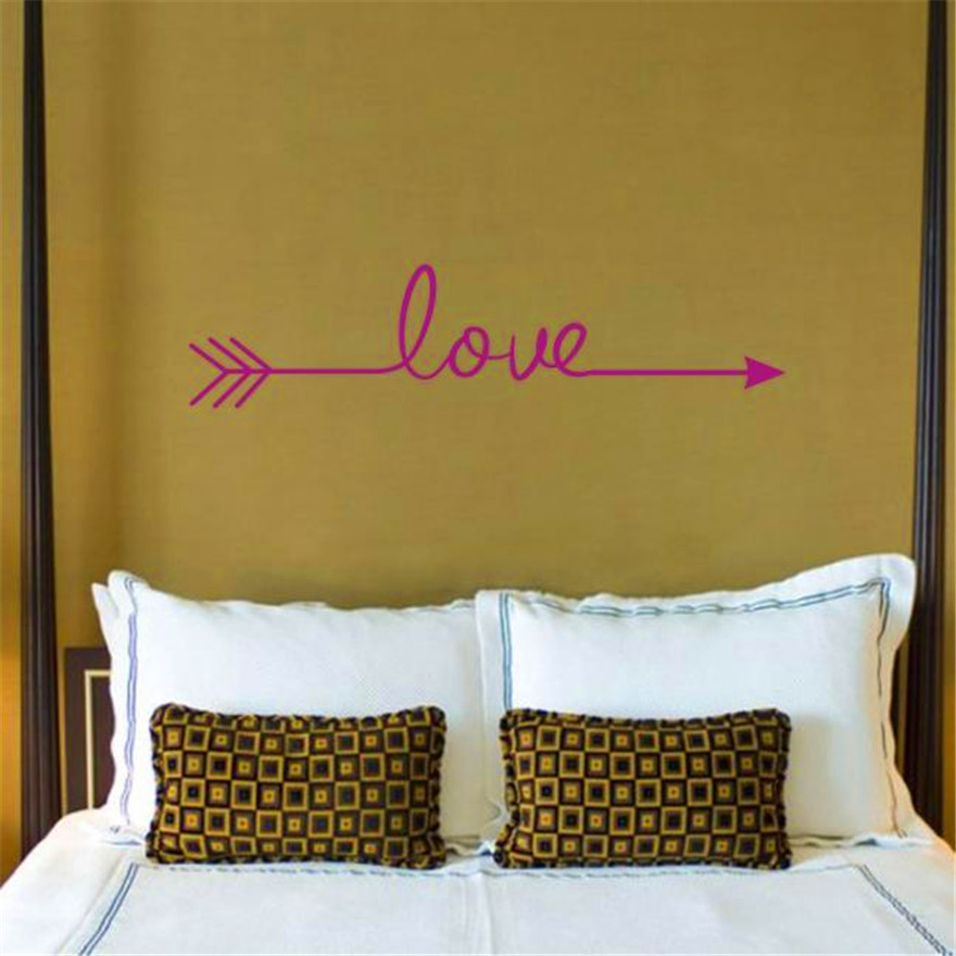 2017 Love Arrows Shot To The Heart Full Of Love Affixed To The Living Room  Bedroom Vinyl Carved Wall Stickers Stickers Home Deco
