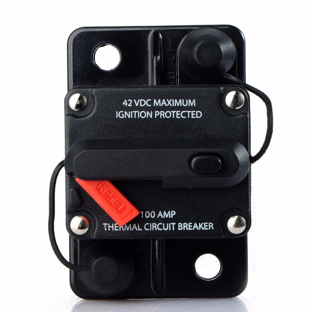 80A 100A 150A 200A 250A Amp Auto Auto Audio Marine Boot Audio Circuit Breaker DC 12 v/24 v /42 v