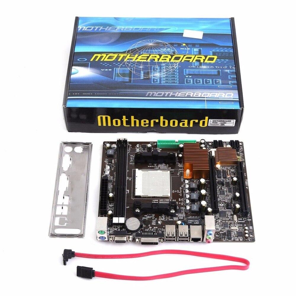 A780 bricolage carte mère ordinateur de bureau pratique carte mère AM3 AM2 prend en charge DDR3 double canal AM3 AM2 16G stockage de mémoire