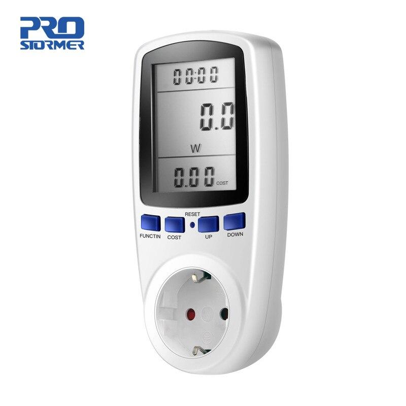 PROSTORMER-Medidor de energía Digital, medidor de potencia, vatímetro de voltios, Analizador de potencia, medidor de energía electrónica, toma de corriente