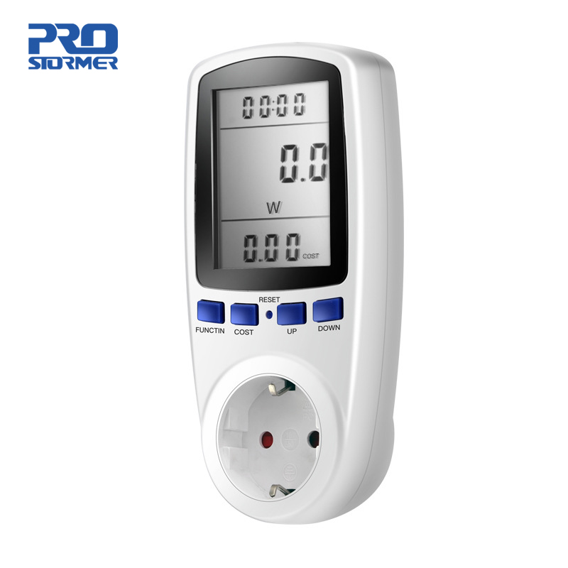 Prostormer EU Digital Energy Meter Power Meter Volt Spannung Wattmeter Power Analyzer Elektronische Energie Meter Steckdose