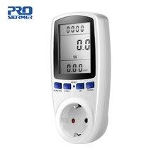 Prostormer EU Digital Energy Meter Power Meter Volt Voltage Wattmeter Power Analyzer Electronic Energy Meter Outlet